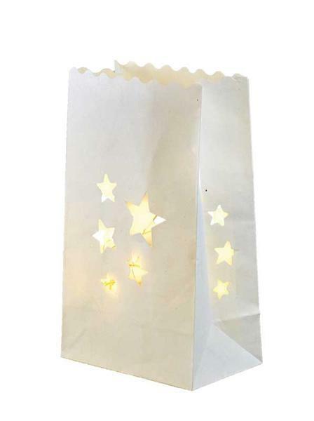 Lichtertüten - Sterne, 19 x 11,5 x 7 cm