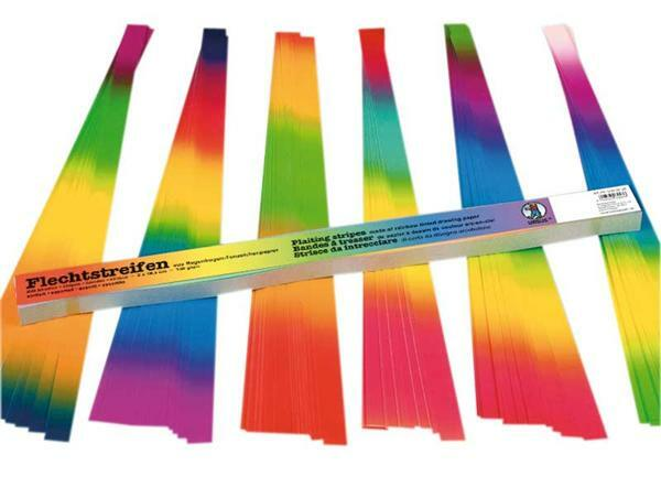 Vlechtstroken regenboog - 2,0 x 49,5 cm
