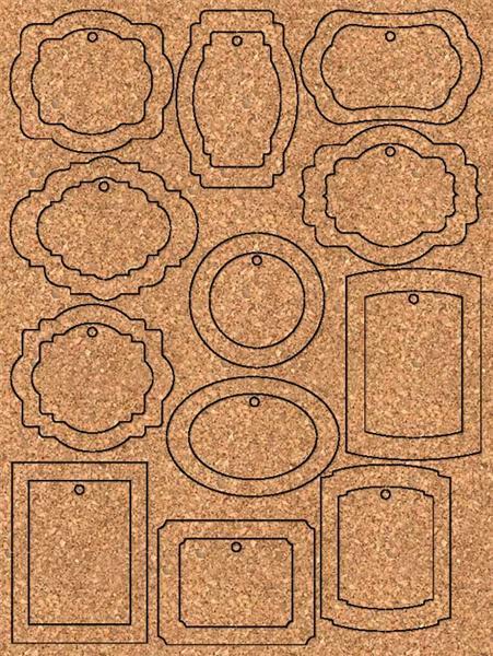 Paper Tags - 96 pces, Vintage