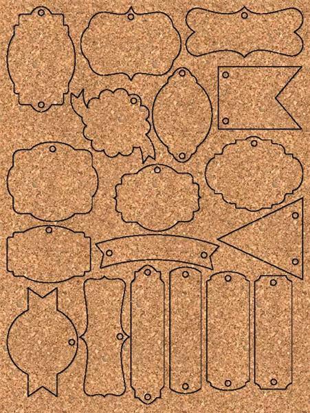 Paper Tags - 96 delen, Vintage