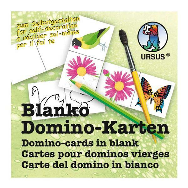 Blanco domino kaarten - 4,5 x 9 cm, 60 stuks