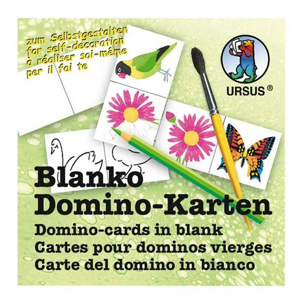 Cartes Domino vierge - 4,5 x 9 cm, 60 pces