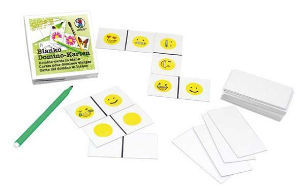 Blanko Domino Karten - 4,5 x 9 cm, 60 Stk.