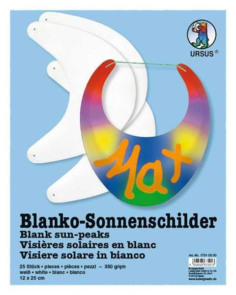 Blanko Sonnenschilder - 25er Pkg.