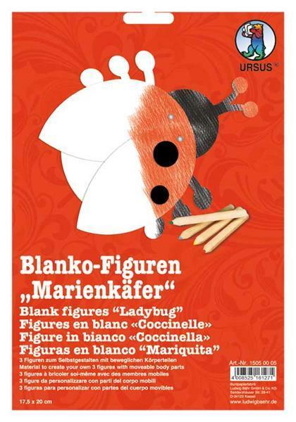 Blanco figuurtjes - 3 stuks/pak, lieveheersbeestje