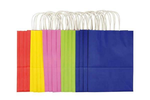 Sacs en papier - multicolore, 20 pces, L