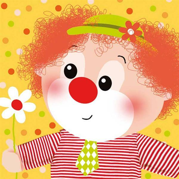Servetten - 20 st./pak, Little Clown