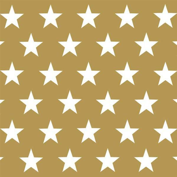 Servietten - 20 Stk./Pkg., United Stars, gold