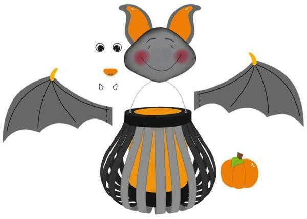 Lampion-knutselset, vleermuis