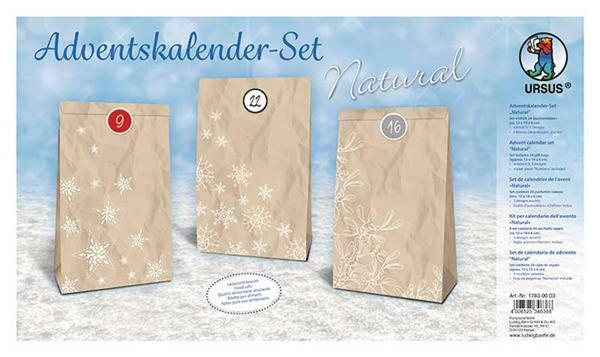 Adventskalenderset - naturel
