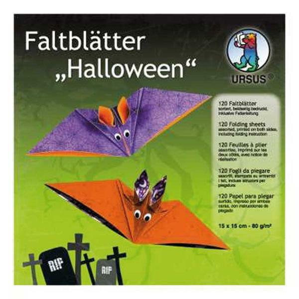Feuilles à plier Halloween, 15 x 15 cm