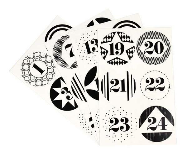 Stickerset - Adventskalenderzahlen