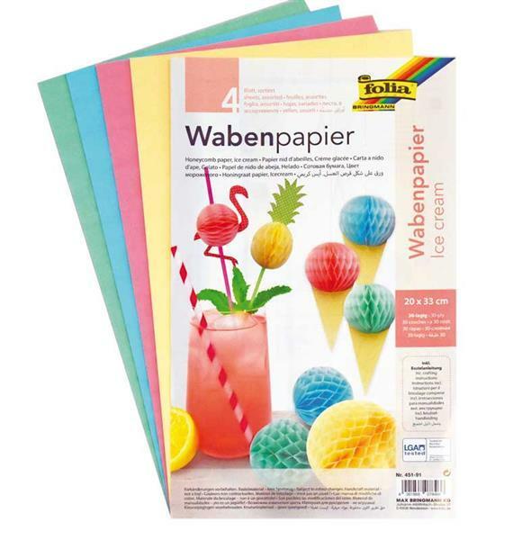 Wabenpapier, pastell
