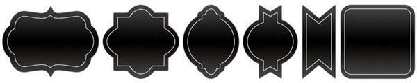 Schoolbordstickers - zwart, zelfklevend