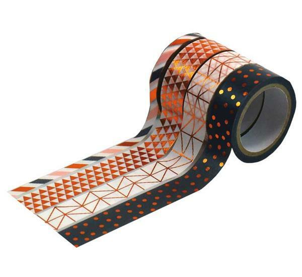 Plakband met motief set - hotfoil, koper/patroon