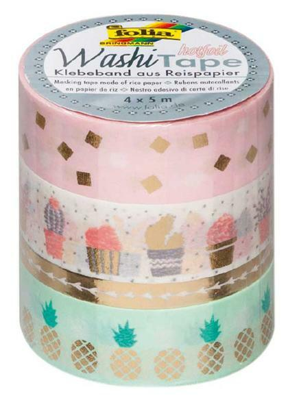 Washi Tape set - hotfoil, goud/trendy