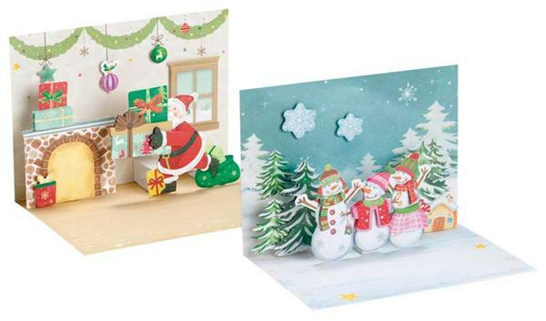 3D-Popup Karten Set - Weihnachten