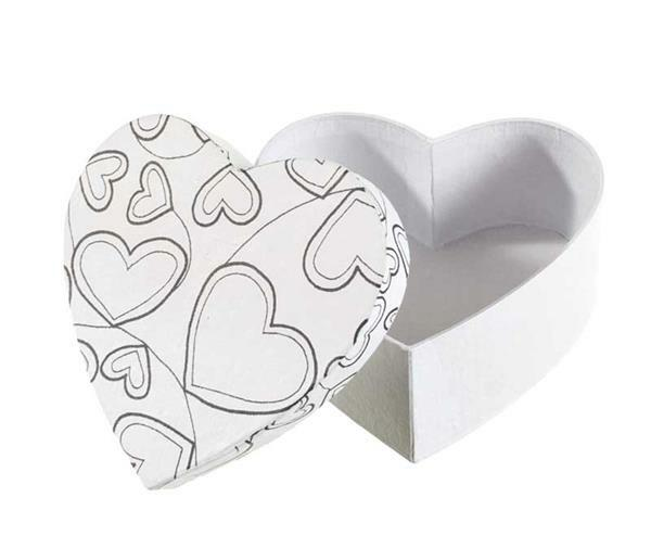 Papier-maché doos, DoodleArt - hart