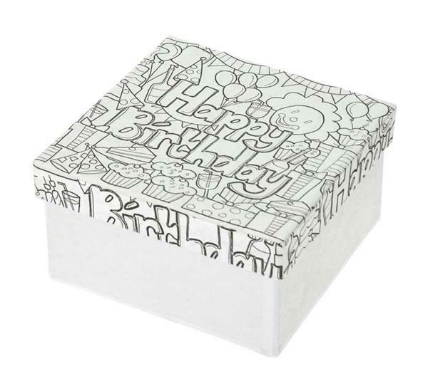 Pappmache Box, DoodleArt - Happy Birthday