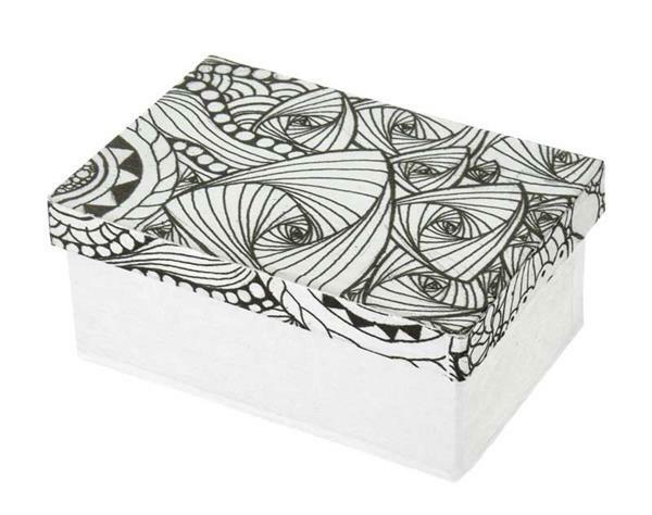 Papier-maché doos, DoodleArt - rechthoek