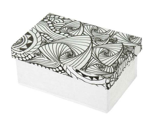 Pappmache Box, DoodleArt - Rechteck