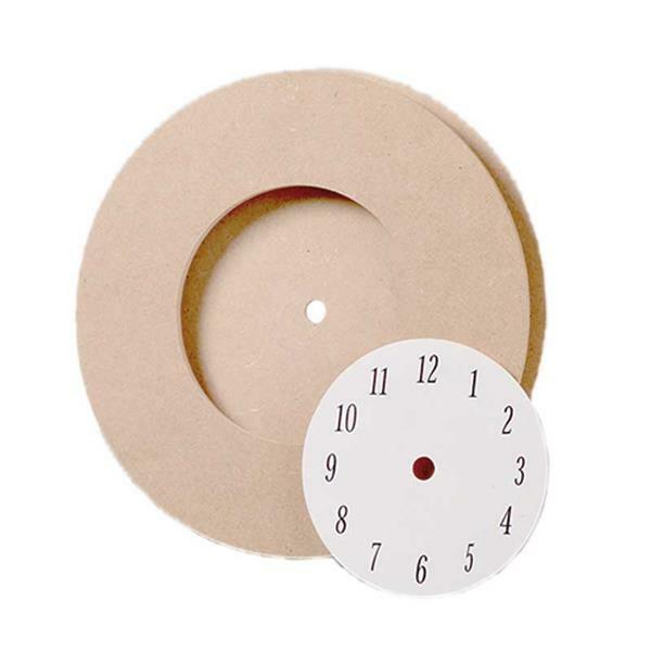 MDF voorgevormde klok met wijzerplaat,  Ø 21,5 cm