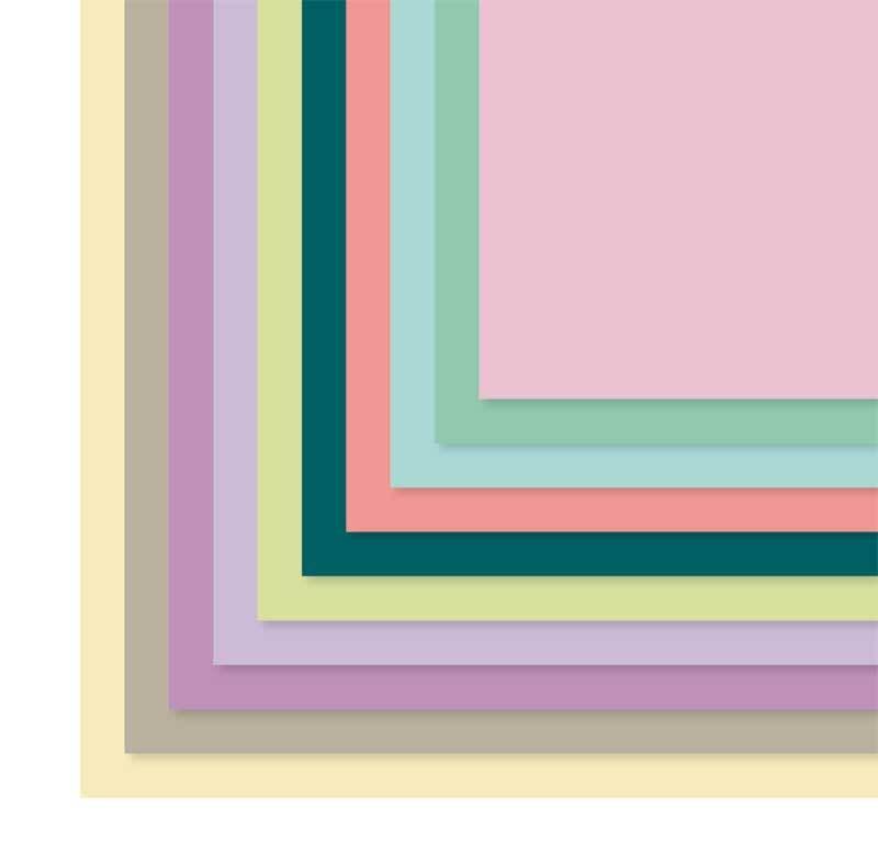 Carton teinté  - 50 x 70 cm, 20 pces, pastel