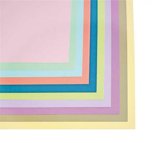 Papier dessin - 50 x 70 cm, 20 pces, pastel