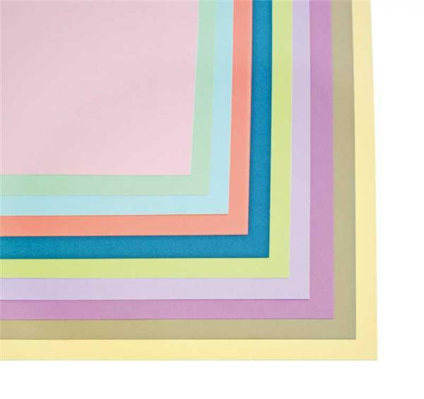 Gekleurd tekenpapier - 20 st., 50 x 70 cm, pastel