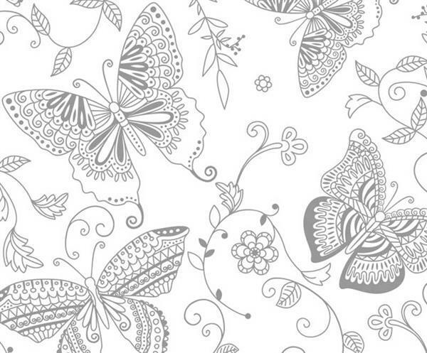 Toverpapier - 23 x 33 cm, vlinders