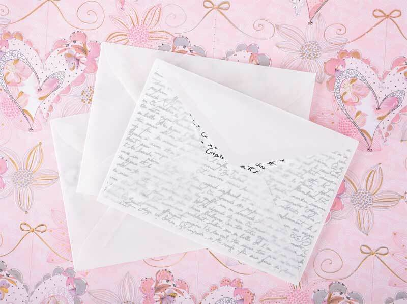 Kuverts aus Transparentpapier - 8 Stk.