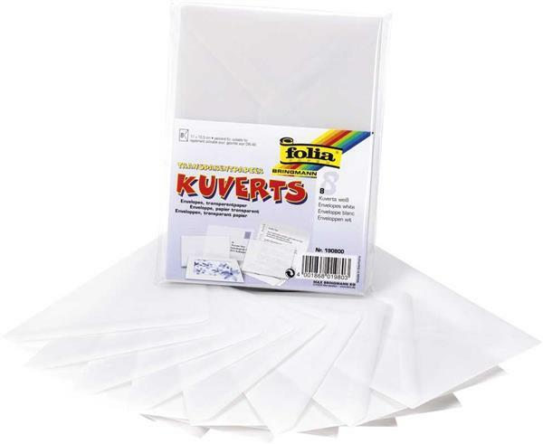 Enveloppen van transparant papier - 8 st.