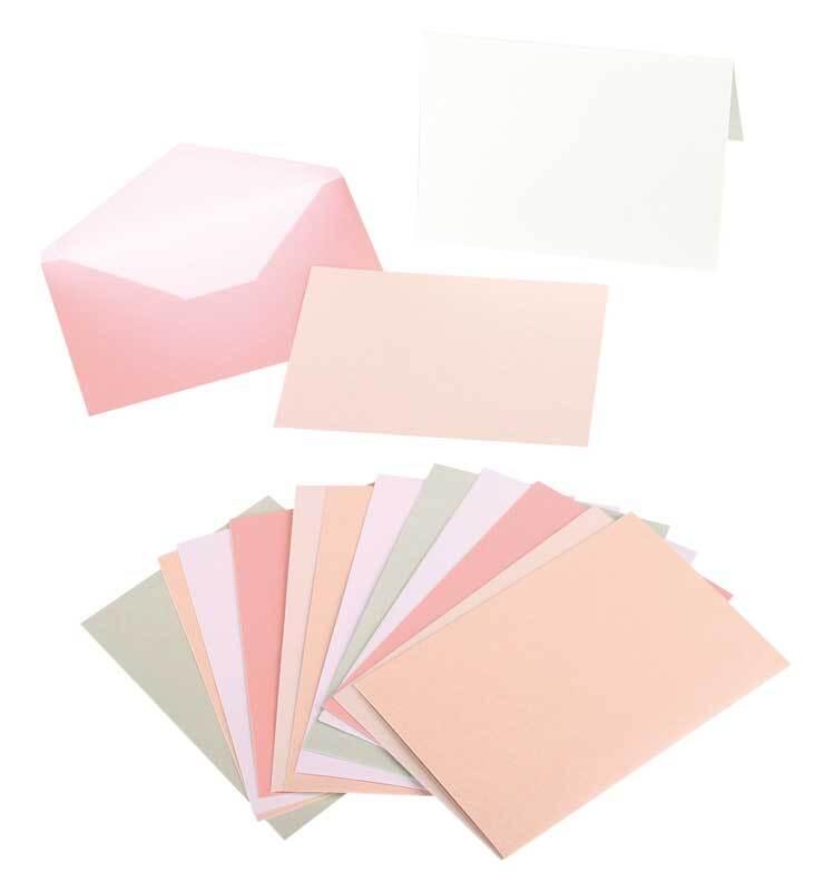 Cartes doubles rectangulaires - nacré, pastel