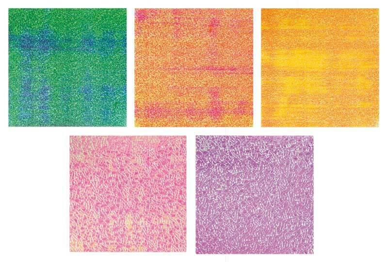 Faltblätter - 14 x 14 cm, irisierend