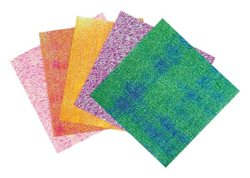 Papier à plier irisé - 14 x 14 cm