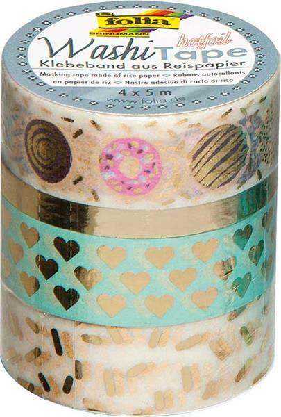 Washi Tape set - hotfoil, goud/sweet