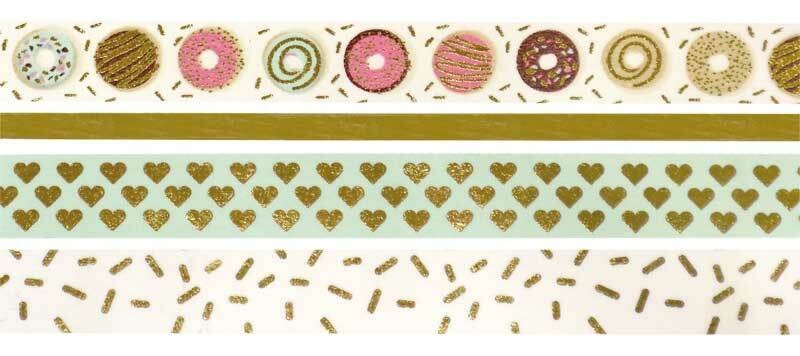 Washi Tape Set - hotfoil, gold/sweet