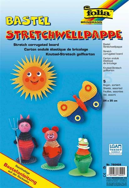 Stretchwellpappe - bunt