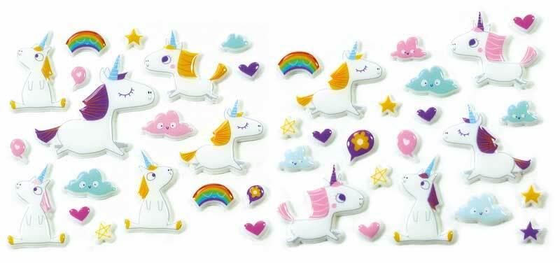 Stickers 3D - Licorne