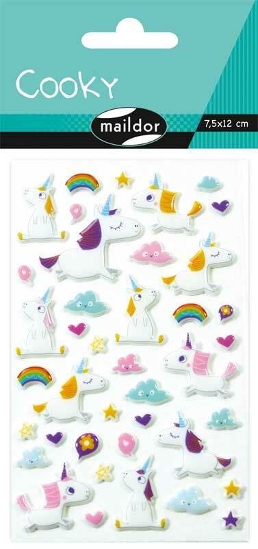 Stickers 3D - eenhoorn