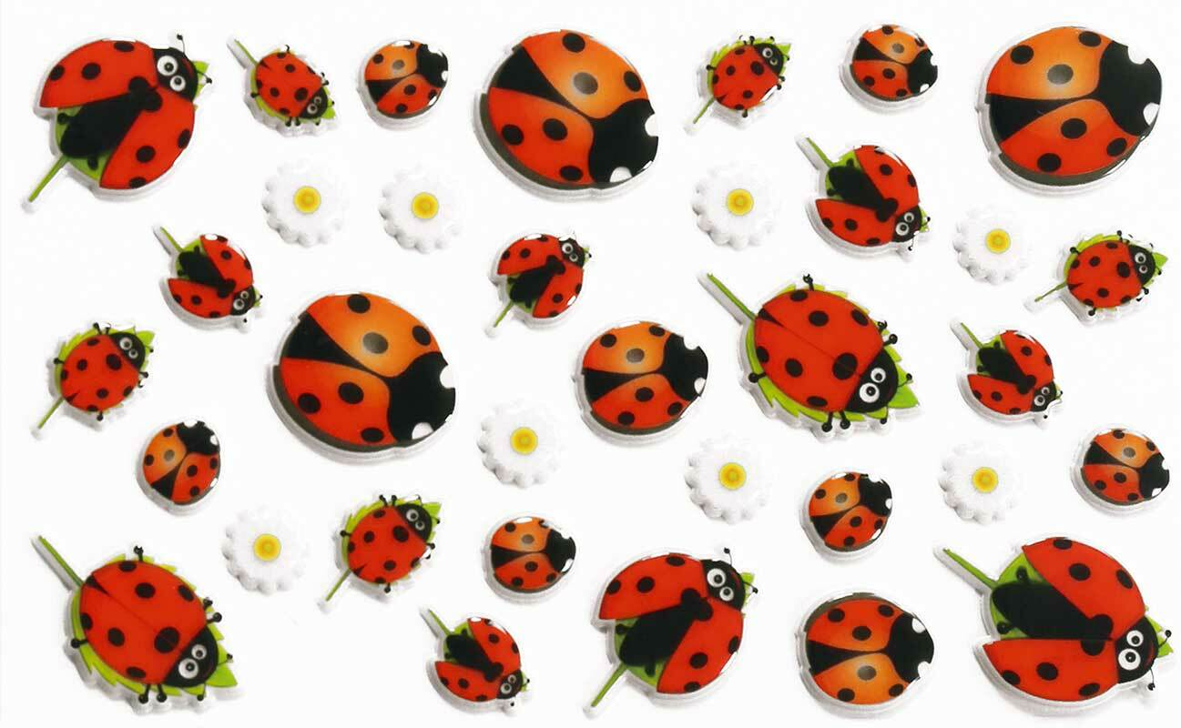 Stickers 3D - Coccinelles