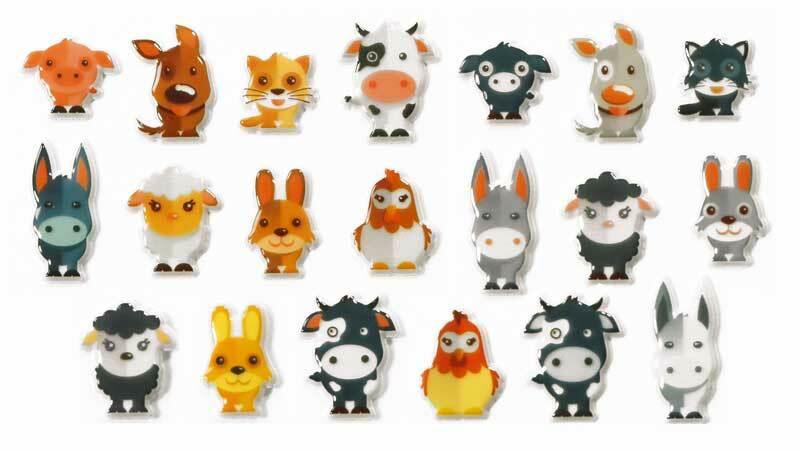 Sticker 3D - Haustiere