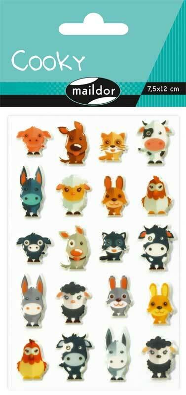 Stickers 3D - huisdieren