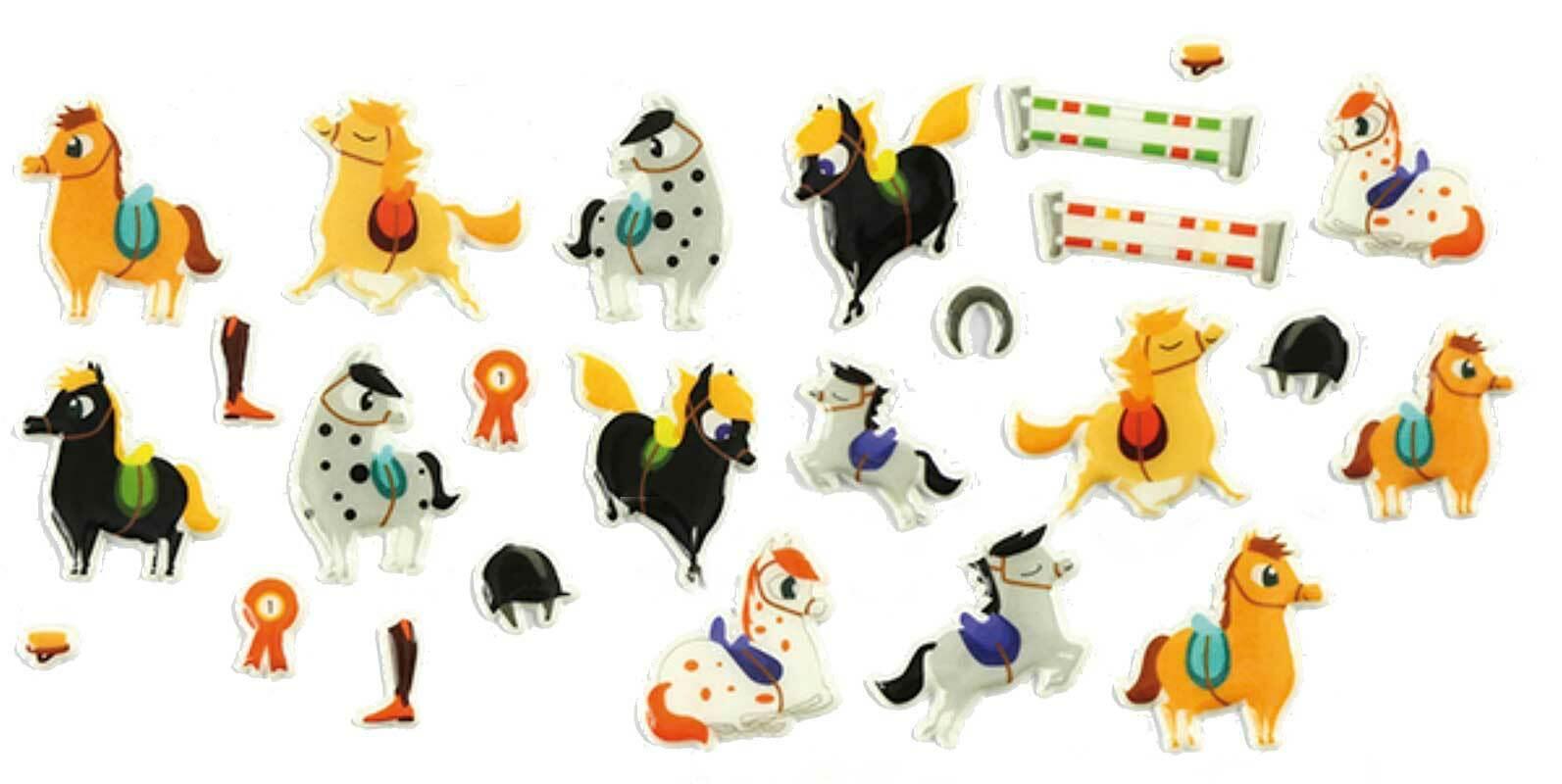 Stickers 3D - paarden