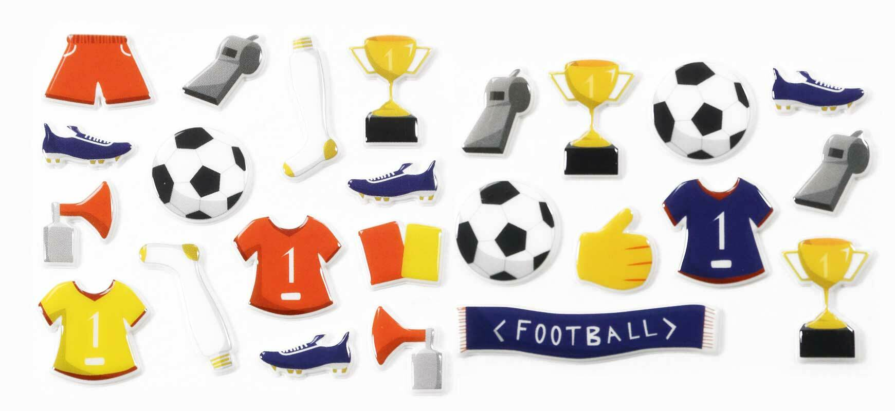 Stickers 3D - voetbal