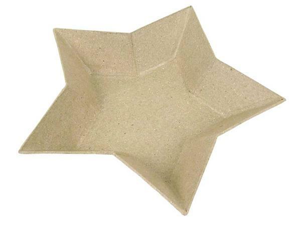 Bol en papier mâché - Etoile, 15 x 15 cm