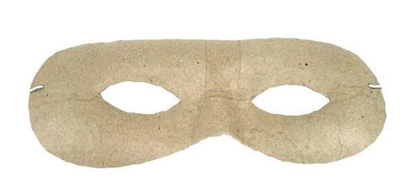 Papier-maché masker - rond