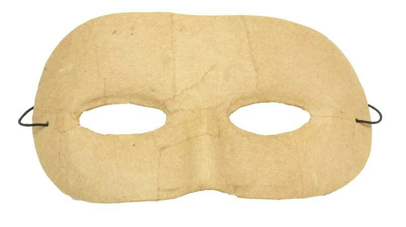 Papier-maché masker - kind, rond