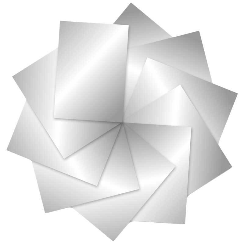 Fotokarton - 10 st./pak, 50 x 70 cm, zilver glanze