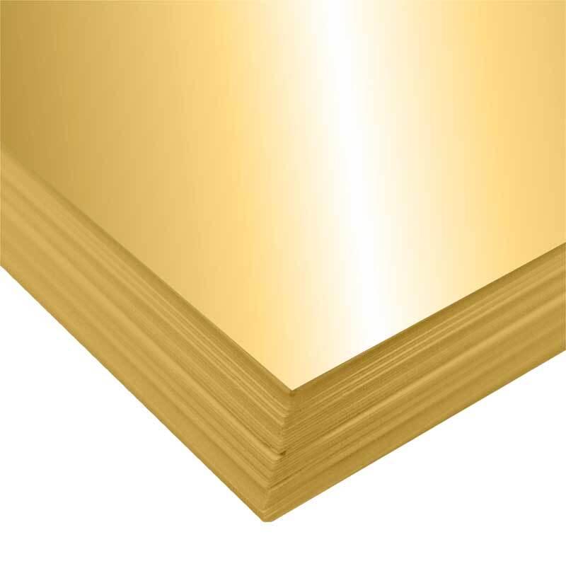 Fotokarton - 10 st./pak, 50 x 70 cm, goud glanzend